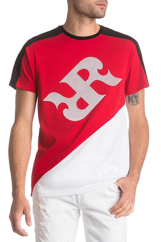 Rock Revival Crewneck T-Shirt Red/White