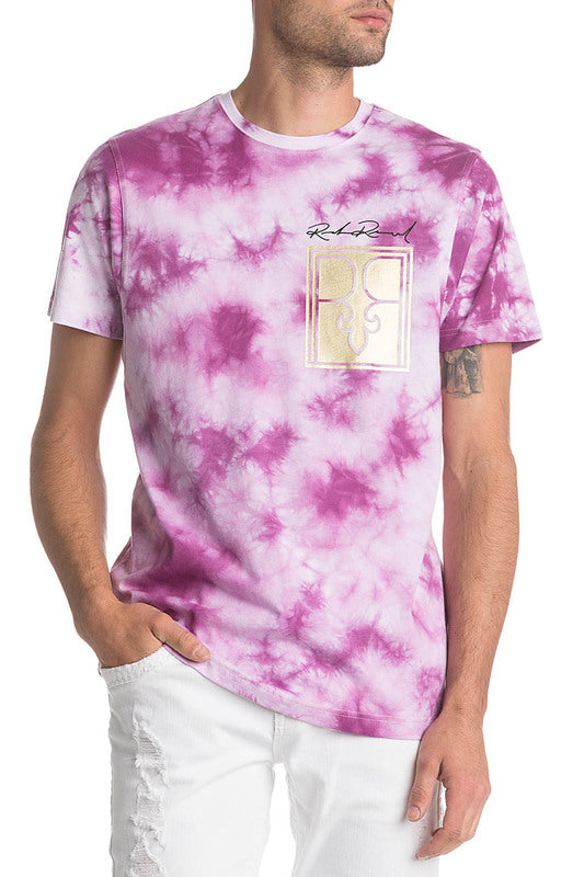 Rock Revival Crewneck T-Shirt Purple Tie Dye