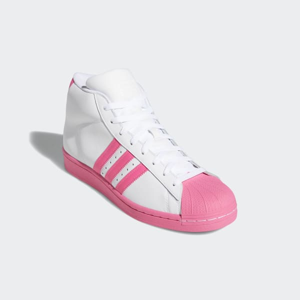 Adidas Pro Model White Pink Shoes