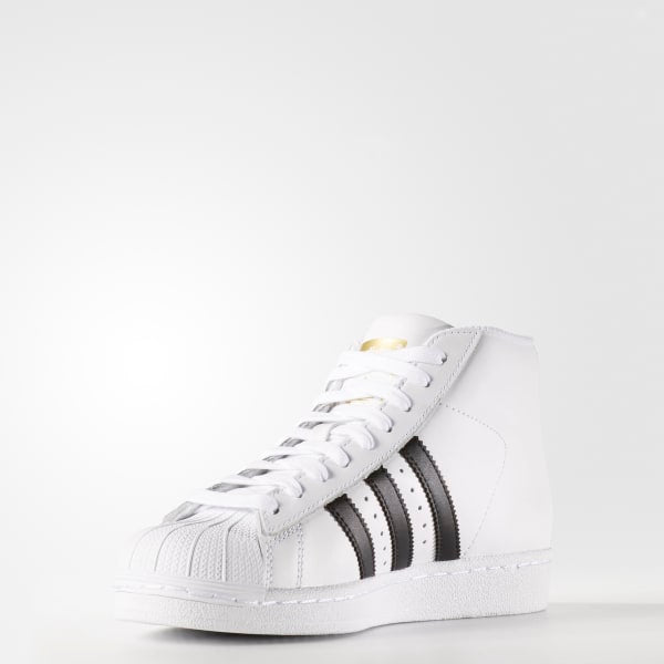 Adidas Pro Model J Shoes - White