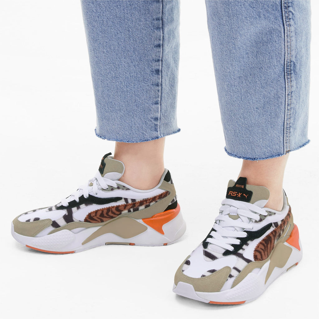 Puma RS-X³ Wildcats Women's Pale Khaki White Sneakers