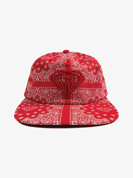 Brilliant Bandana Unstructured Snapback - Red - Diamond Supply Co.