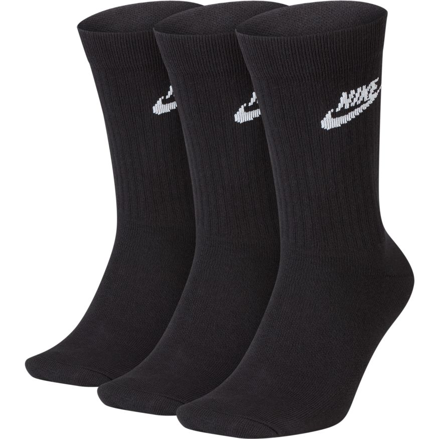 Nike Sportswear Everyday Essential Crew 'Black' Socks (3 Pairs)