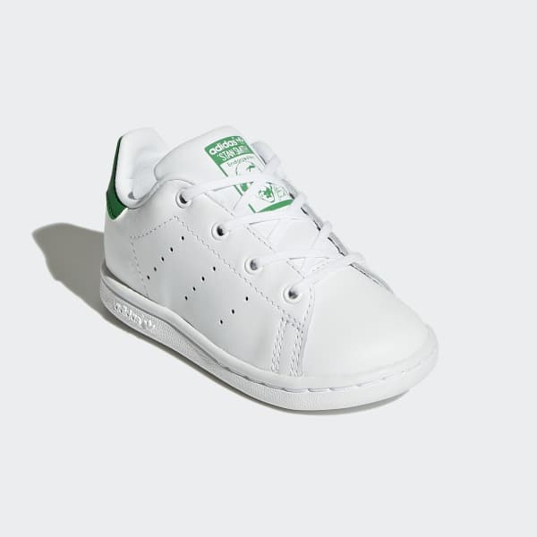 Adidas Toddler Stan Smith Cloud White and Green Shoes