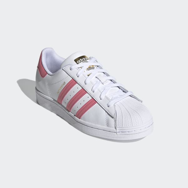 Adidas Women's Superstar Cloud White Blue Shoe