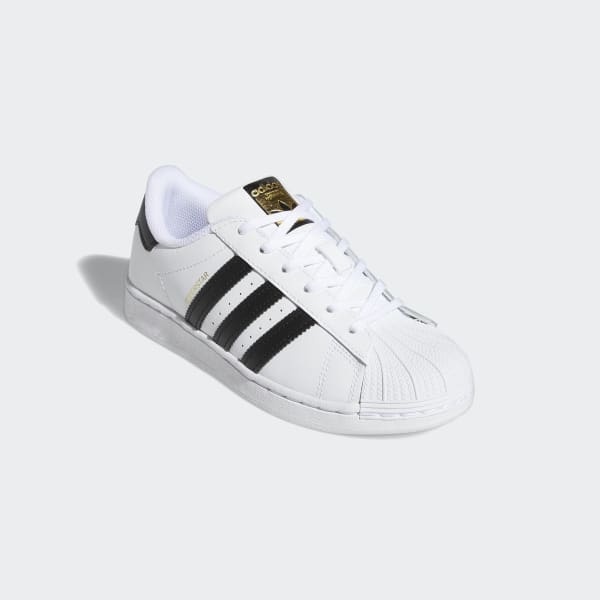 Adidas Kids Superstar Cloud White and Core Black Shoes