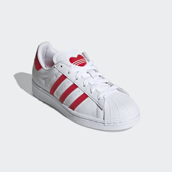 Adidas Superstar Big Girl's Shoes - Red/White