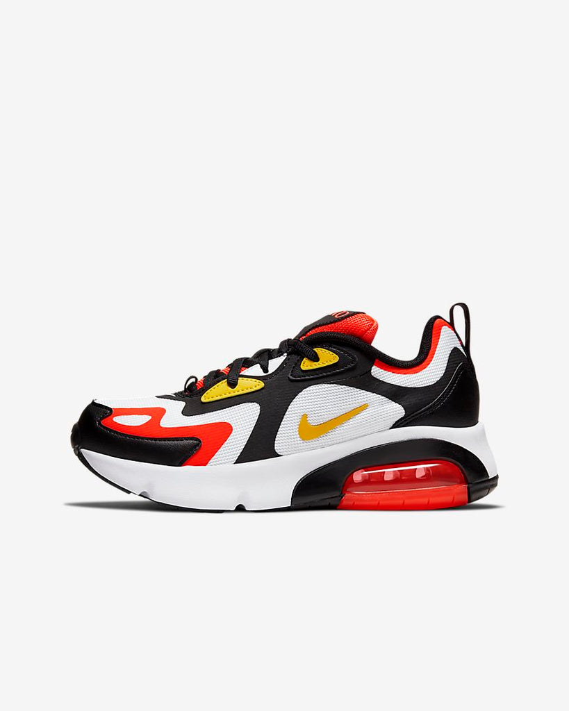 Nike Air Max 200 Black/Bright Crimson Big Kids' Shoe