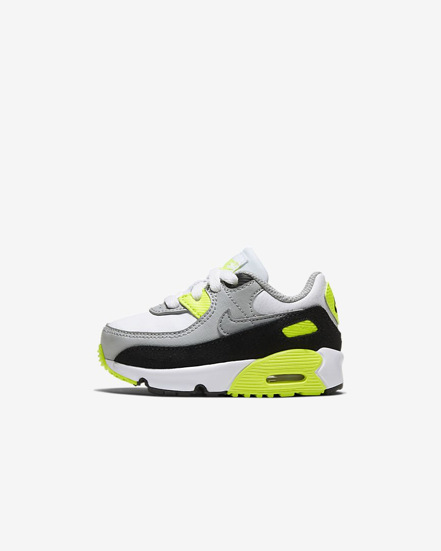 Nike Air Max 90 Baby/Toddler Volt (White) Shoe | Active Athlete 88