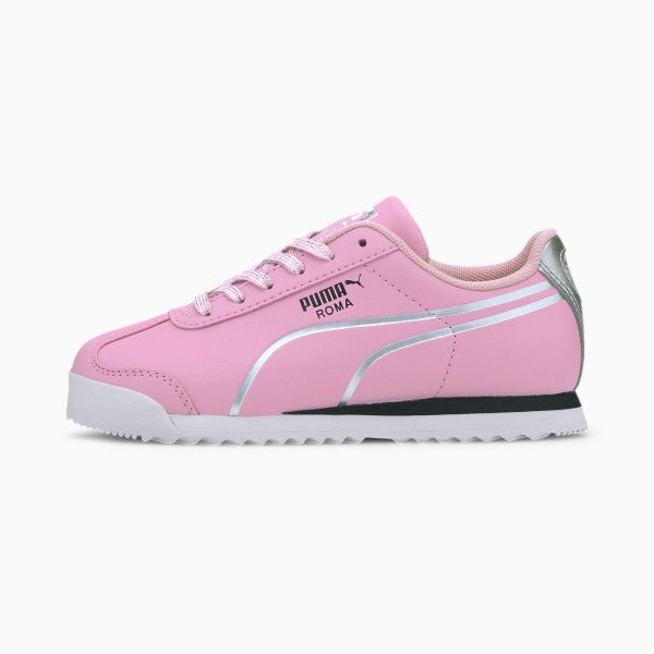 PUMA Roma Shine Little Kids' Pink/Silver Shoes