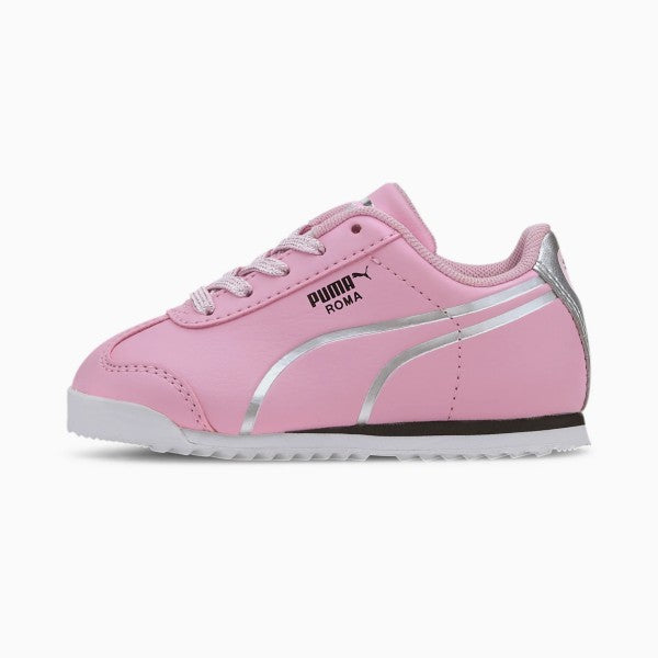 PUMA  Roma Shine Toddler Pink/Silver Shoes