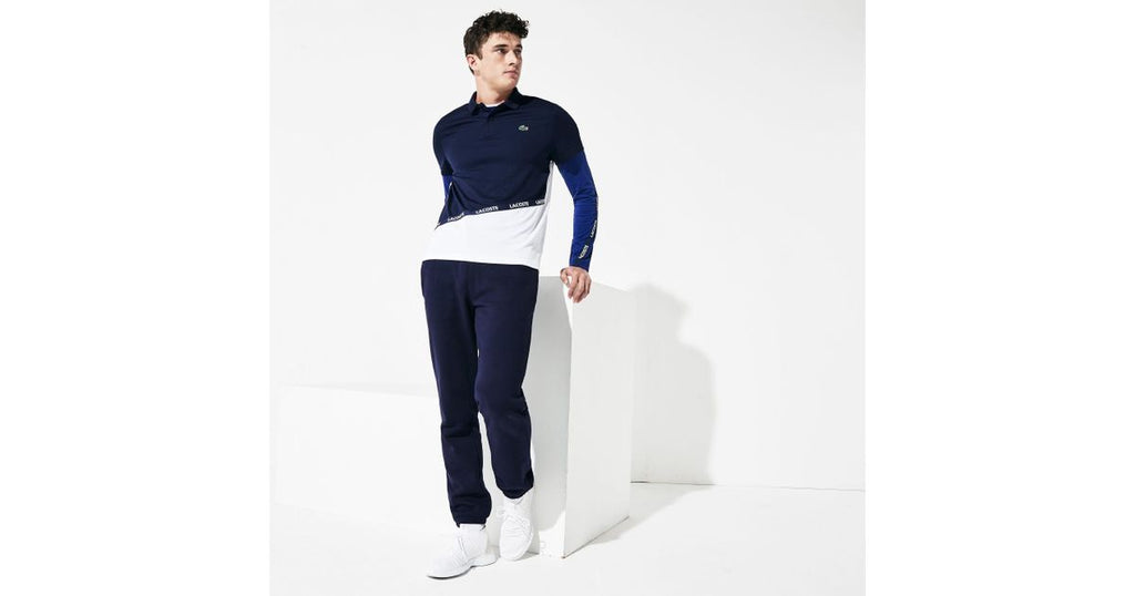 Men's SPORT Tennis Fleece Navy Blue Trackpants