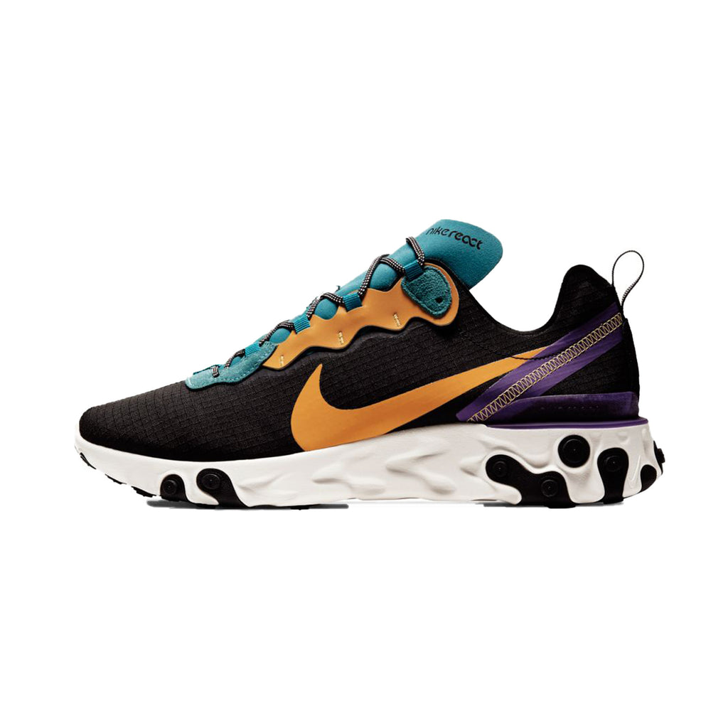 Nike React Element 55 PRM Black Mineral Cyan