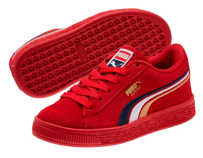 Puma Girls Suede Red