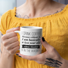"""Why I Drink Coffee"" Mug White Coffee Mug"