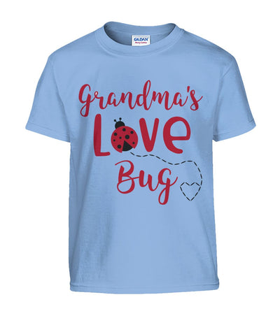 Grandma's Love Bug Kids Tshirt