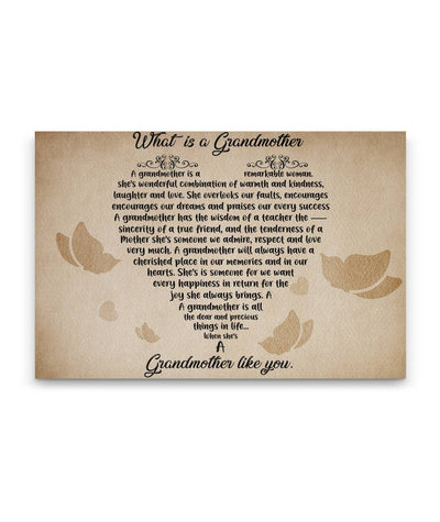 """What is a Grandmother"" Canvas Wall Art"