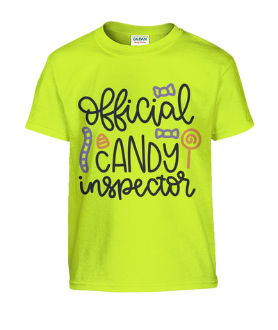 Official Candy Inspector Kids Tshirt