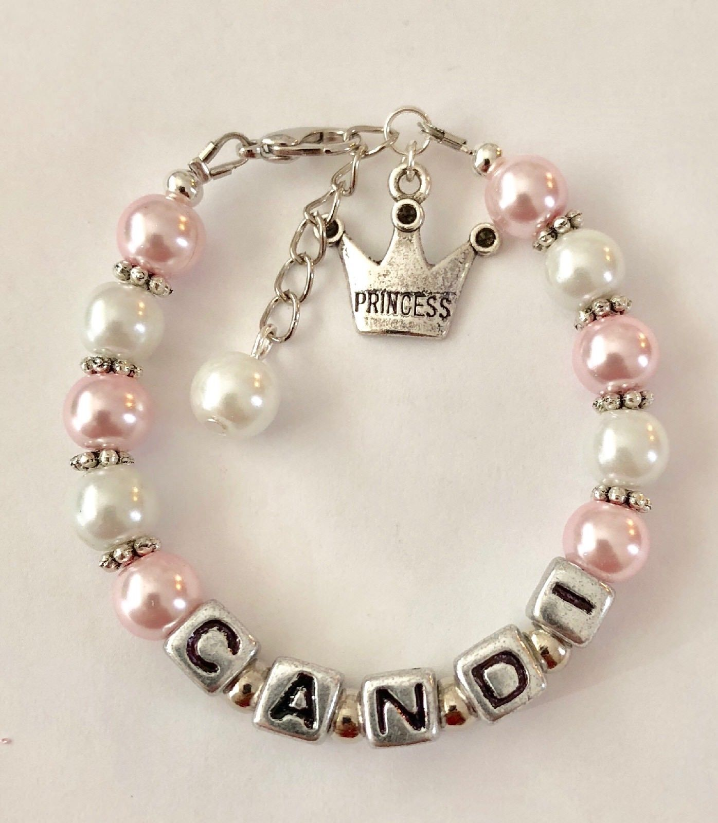 Princess Personalized Girl's Charm Bracelet (Made to Order)
