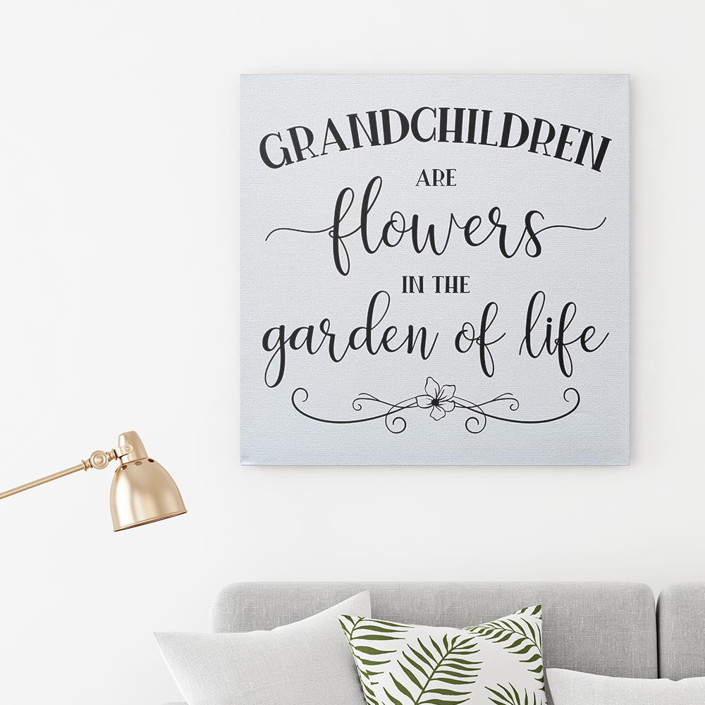Grandchildren are flowers Wall Art