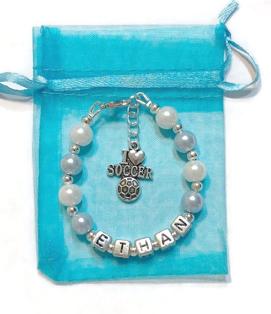 Custom Boy's Charm Bracelet (Made to Order)
