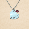 Personalized Granddaughter Birthstone Heart Necklace