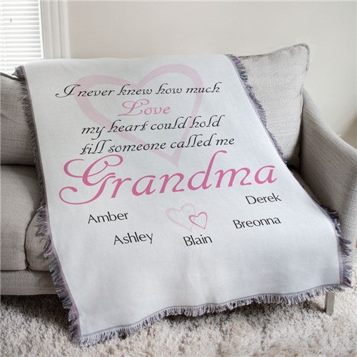 """How Much Love"" Personalized Tapestry Throw"