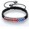 Patriotic July 4th Rhinestone Bracelet