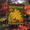 Welcome Fall Personalized Flag