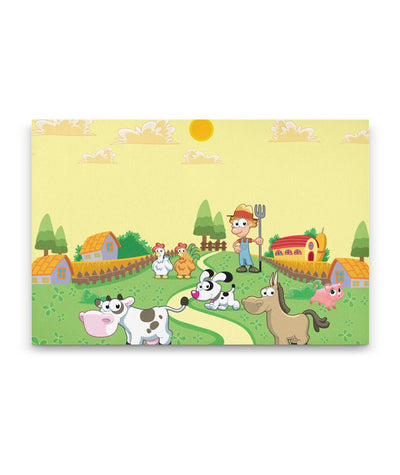 Fun Animal Canvas Art For Kids Bedroom or Playroom