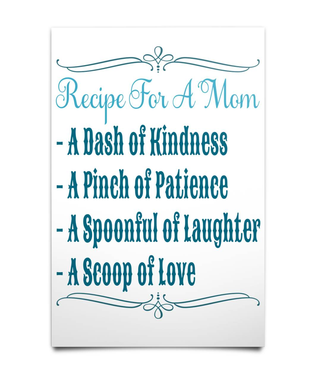Recipe for a Mom Poster