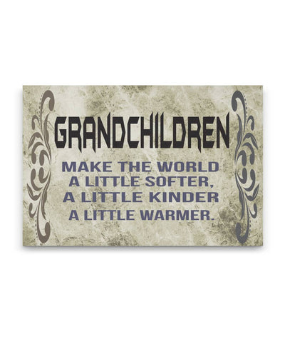 Grandchildren Canvas Wall Art