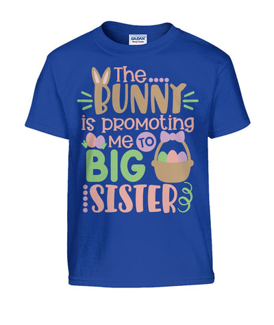 """The Bunny is Promoting me To Big Sister"" Kids Shirt"