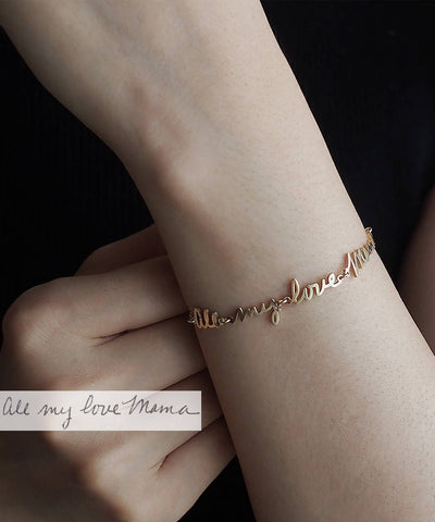 Love Handwriting Bracelet