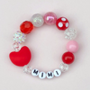 Personalized Kids Red Heart Bracelet