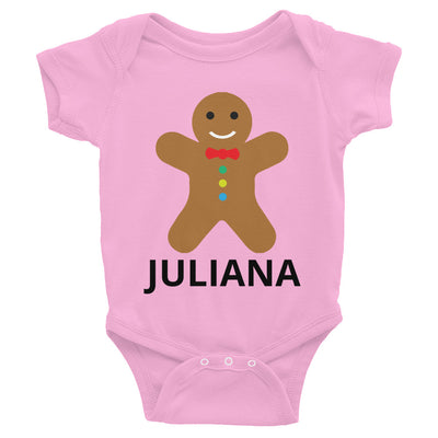 Personalized Christmas Cookie Infant Bodysuit