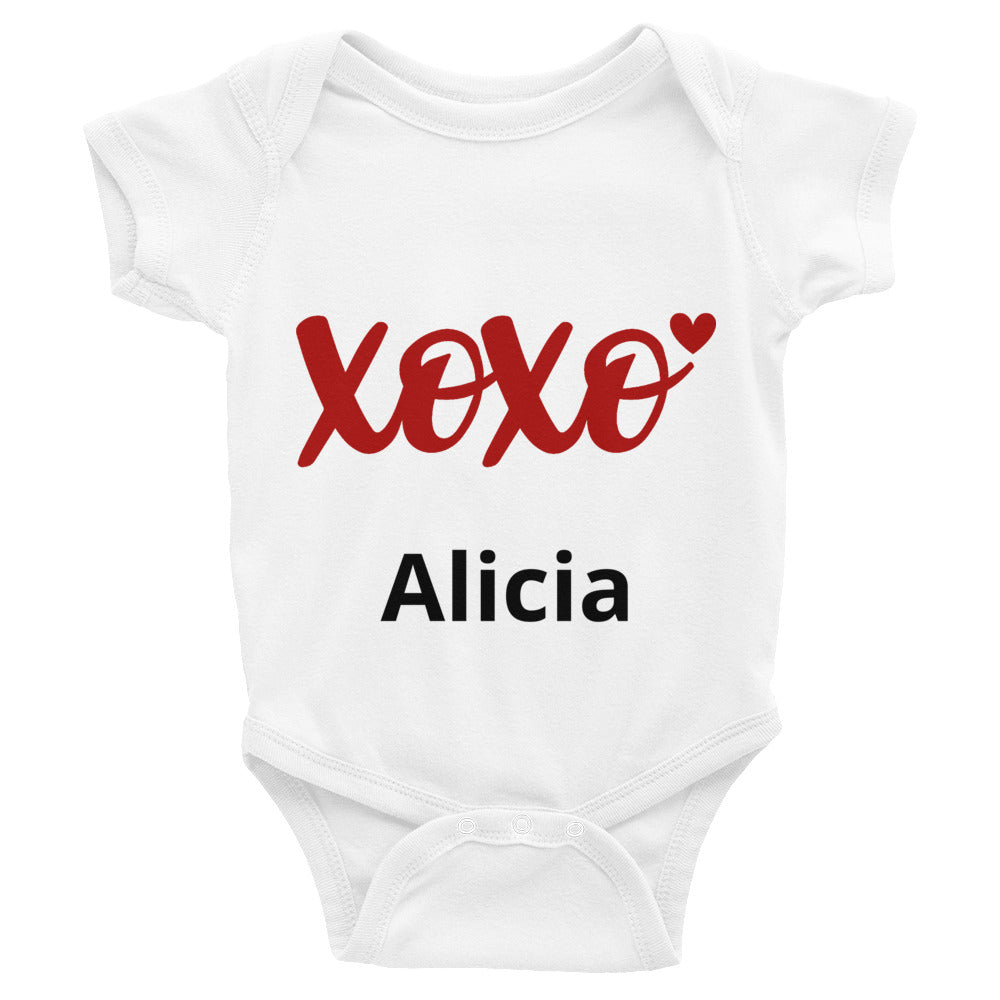 Valentine's Day Personalized XOXO Baby Bodysuit