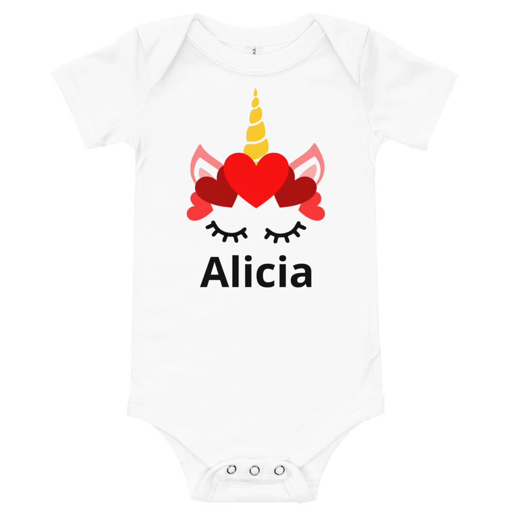Personalized Unicorn Baby Bodysuit