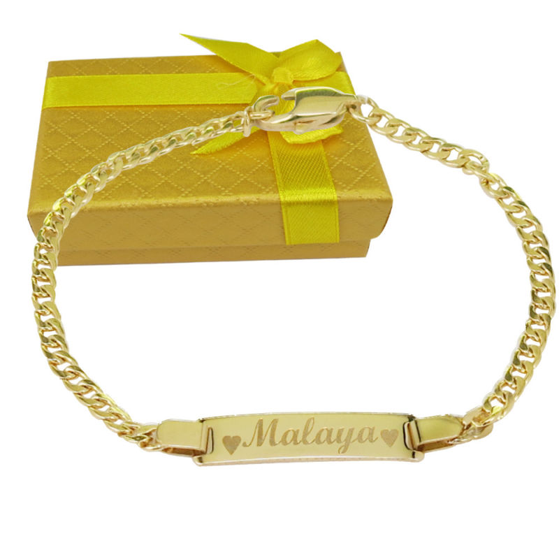 18k Gold Filled Personalized bracelet