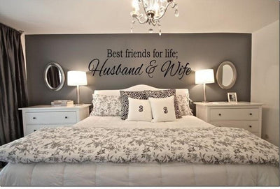 BEST FRIENDS FOR LIFE HUSBAND & WIFE Wall Art Decal