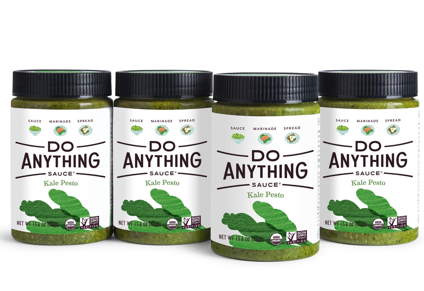 Four Jars of Do Anything Foods Kale Pesto