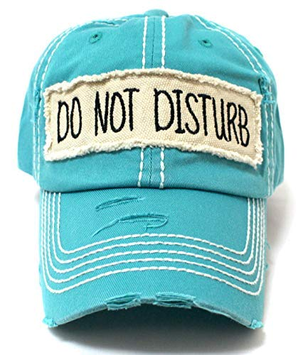 Turquoise DO NOT Disturb Patch Embroidery Cap - Caps 'N Vintage