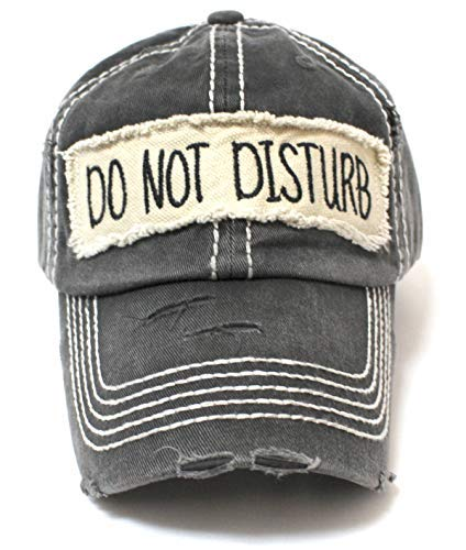 Graphite BLK DO NOT Disturb Patch Ballcap - Caps 'N Vintage