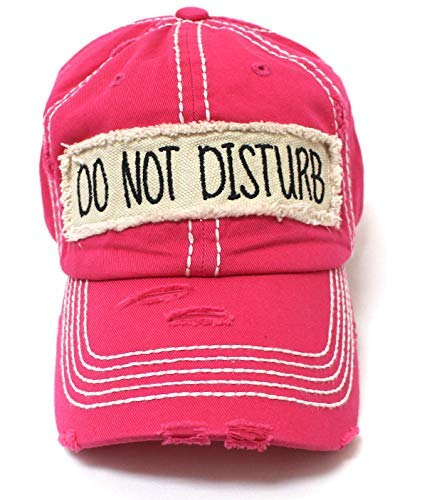 Fabulous Pink DO NOT Disturb Patch Embroidery Cap - Caps 'N Vintage