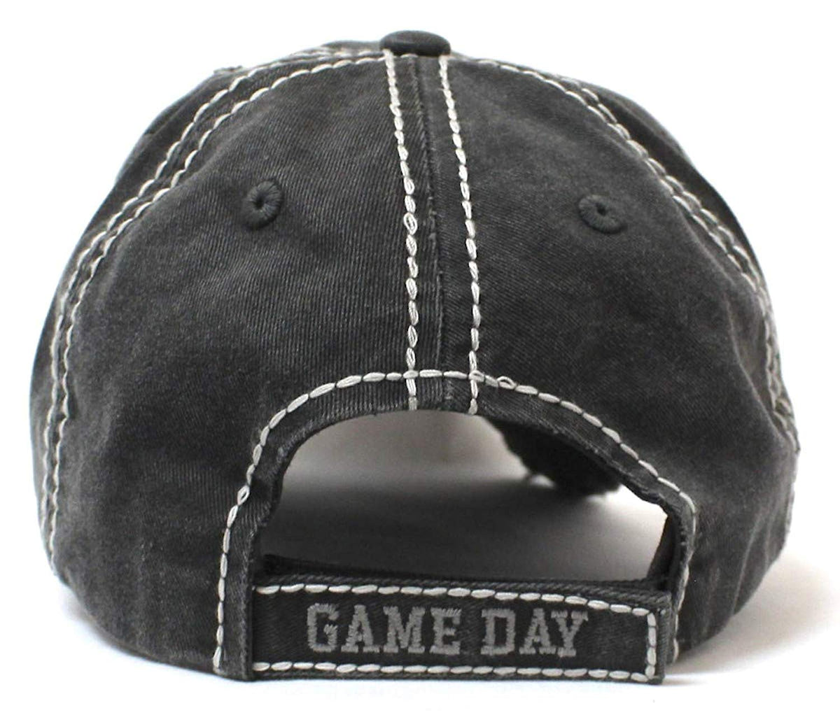 "Blk ""It's Game Day Y'all!"" Patch Embroidery Hat - Caps 'N Vintage"