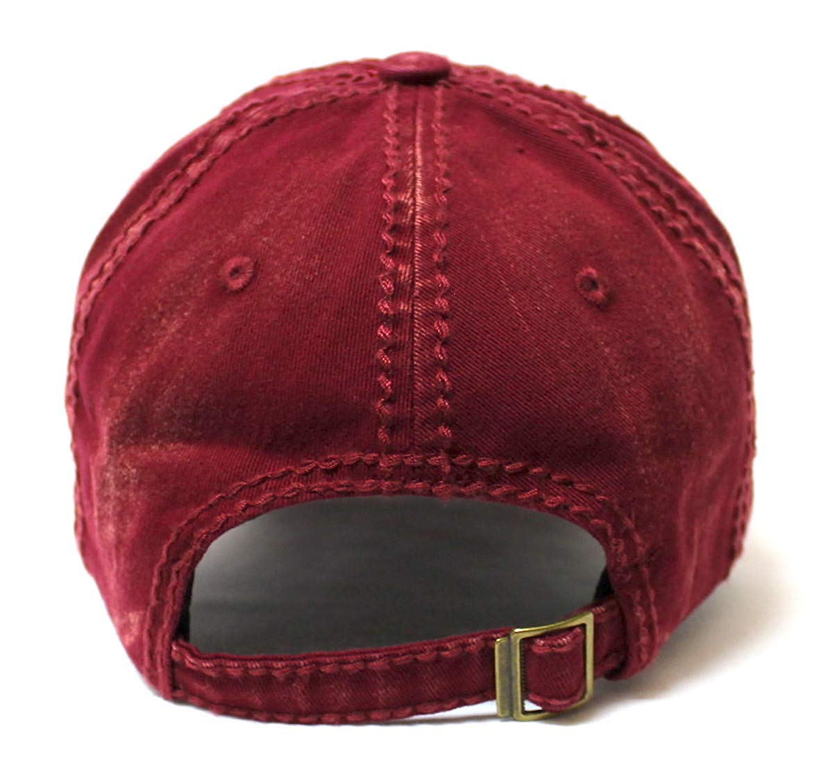 Classic Low Profile Bad Hair Day Original Ball Cap, Varsity Burgundy - Caps 'N Vintage