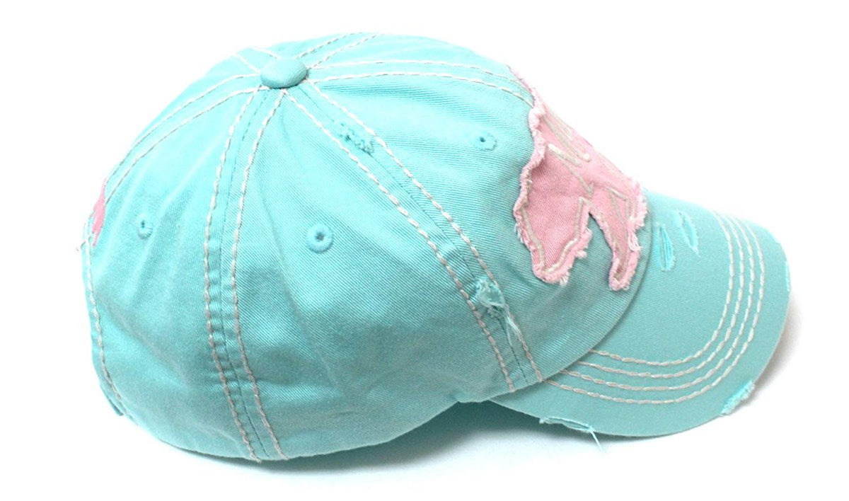 ICE Princess Mama <3 Bear Geometric Shape Patch Embroidery Hat - Caps 'N Vintage