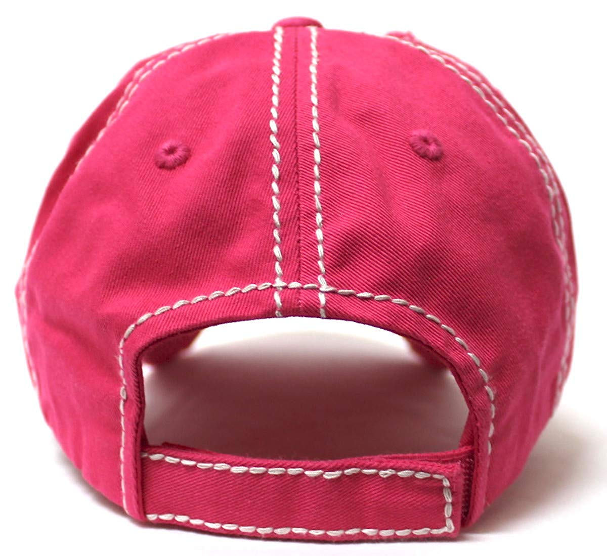 Country Humor Cap This Heifer Don't TAKE NO Bull Red Western Bandana Cow Patch Baseball Hat, Girl Pink - Caps 'N Vintage
