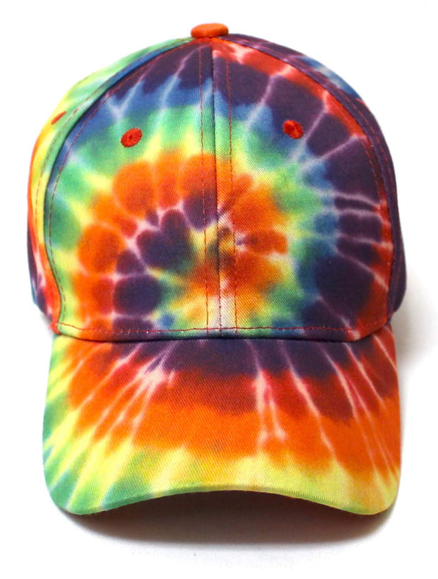 Unisex Fashion Spiral Gradient Tie-Dye Adjustable Baseball Hat, Multicolor