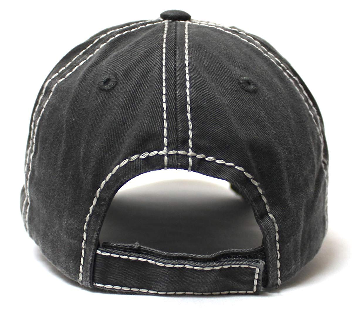 Classic Country Western Ballcap Rodeo Mama Monogram Patch Embroidery Adjustable Baseball Hat, Vintage Black - Caps 'N Vintage